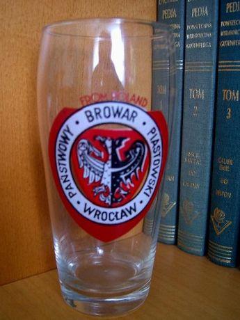 Szklanka Browaru Piastowskiego z 1955 roku - rarytas !