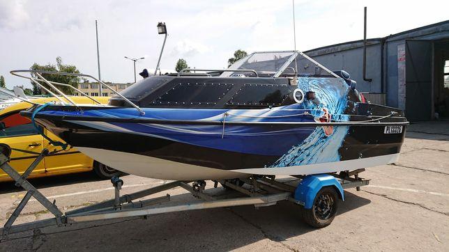 Łódź  kabinowa motorowa-Shetland-AMIE.Zamienie na skuter wodny.