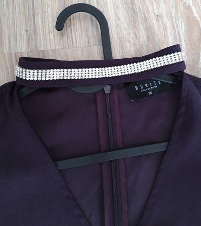 Prosta sukienka mohito rozmiar 36 fioletowa śliwkowa ciazowa
