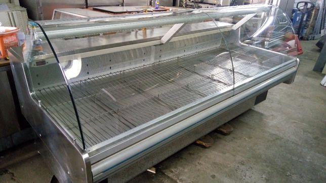 Vitrine de Refrigeração Horizontal Vidro Curvo com Motor Incorporado