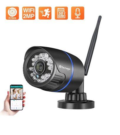 Câmera WIFI Vigilância Exterior • 1080P • Deteção Movimento • IP66