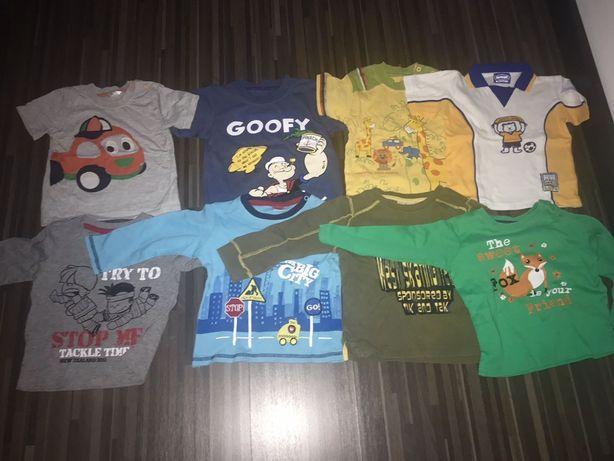 Bluzki długi rękaw koszulki kròtki rękaw 8sztuk dla chłopca 80/86