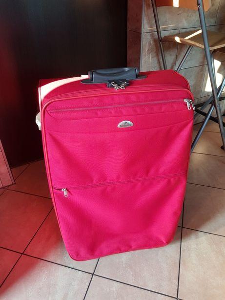 Podróżna duża walizka Samsonite malinowa czerwień