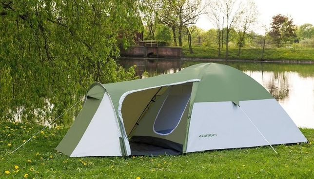 2-х слойная! Палатка 4-х местная Presto Acamper MONSUN 4 PRO. Польша!