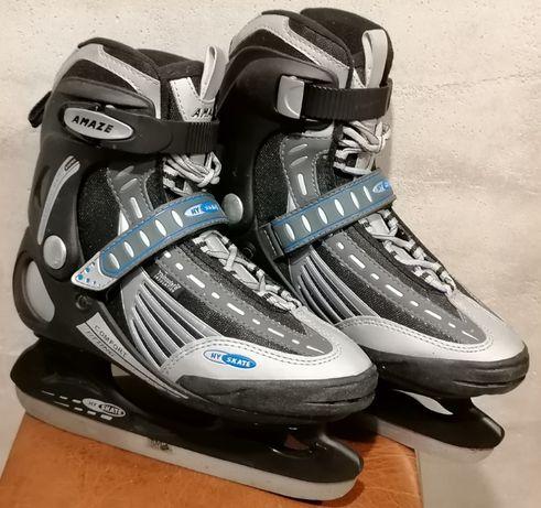 Łyżwy hokeje, rozmiar 39 wkładka 25,5 cm. Jak nowe