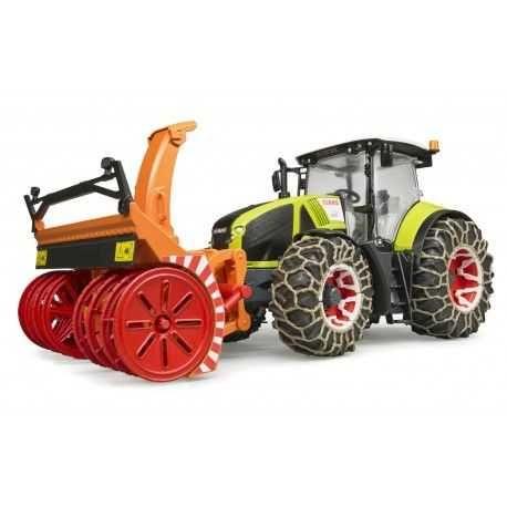 BRUDER 03017 Traktor Class z pługiem śnieżnym