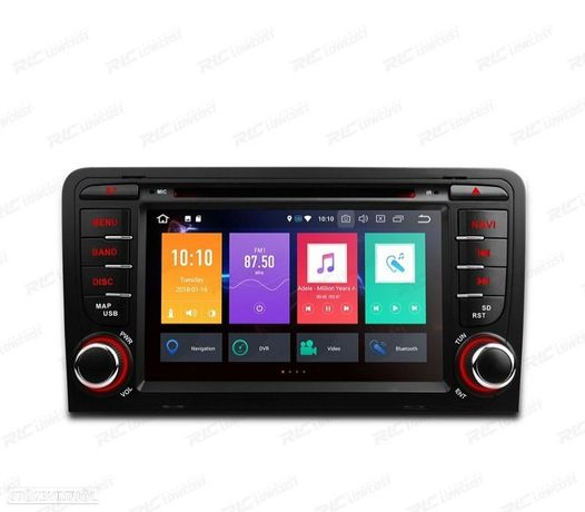 """AUTO RADIO GPS 2DIN ANDROID 9.0 OCTA-CORE AUDI A3 8P / 8PA 03-12 USB GPS TACTIL 7"""" HD"""