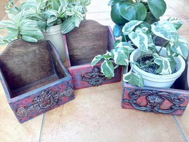 ящики короба ручной работы для хранения кухни мелочей в винтажном стил