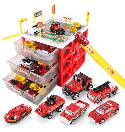Парковка гараж в кейсе с машинками, паркинг