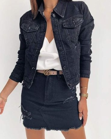 Katana JEANS czarna S M L XL jeansowa denim