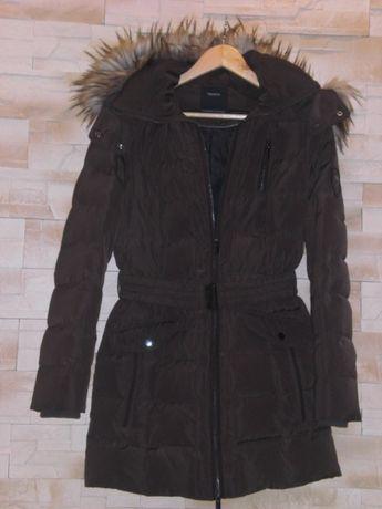 wyprzedaż zimowa puchowa ciepła kurtka damska c&a