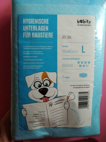 Podkłady higieniczne dla zwierząt psa L