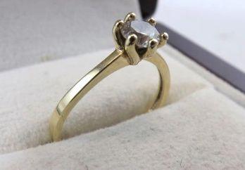 Przepiękny złoty pierścionek z cyrkonią 1,63G 333