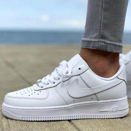 Женские Кроссовки Nike air force low White/Найк айр форс/Люкс качество