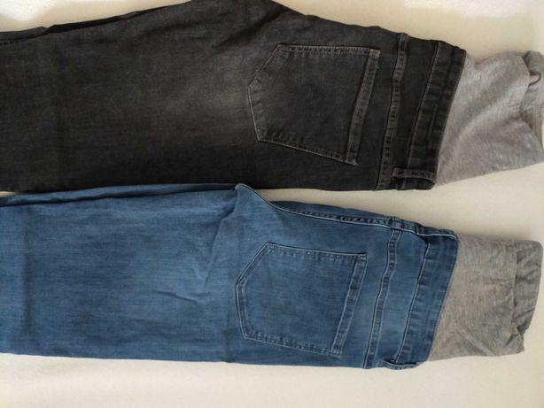 Spodnie ciążowe jeansy Esmara r.34 2 pary