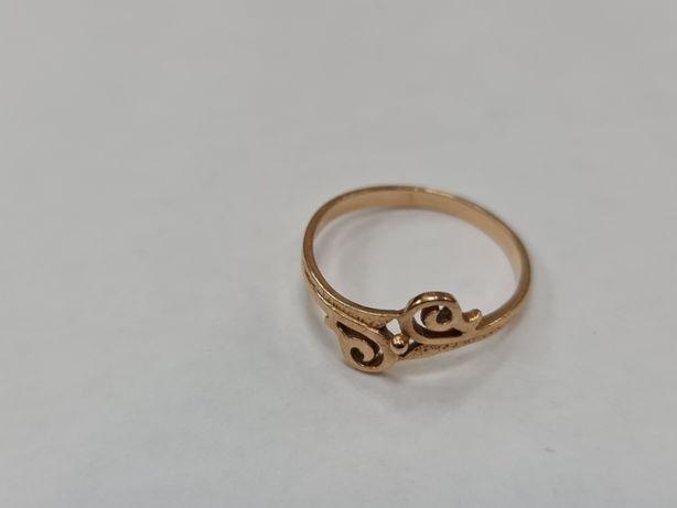 Retro! Klasyczny złoty pierścionek damski/ 585/ 1.68 gram/ R15/ Gdynia
