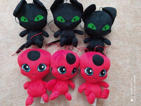 Tikki, plagg, biedronka i czarny kot, miraculum
