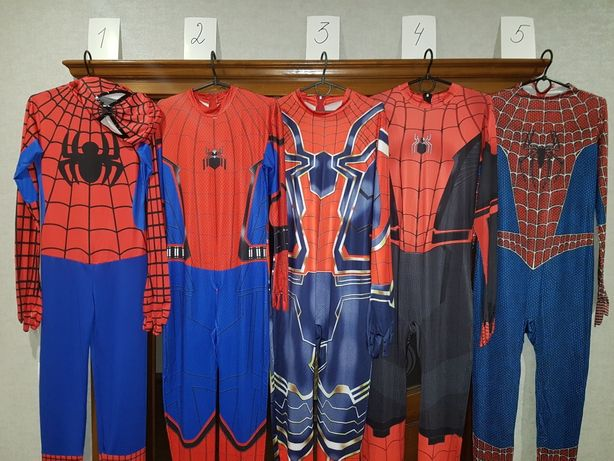 Продам костюмы Спайдермена, новые, в асортименте, на рост от 150см..