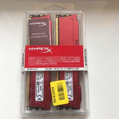ОЗУ HyperX DDR3 8GB (2x4GB) 1866MHz FURY Red