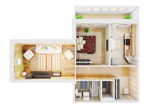 2-х комнатная квартира в новом квартале Молодежный на Таврическом