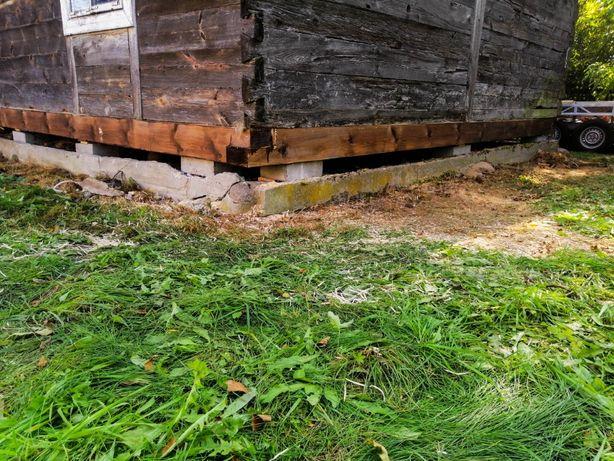 Wymiana podwalin / renowacja domów z drewna