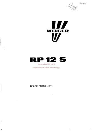 katalog części Prasa welger rp12s