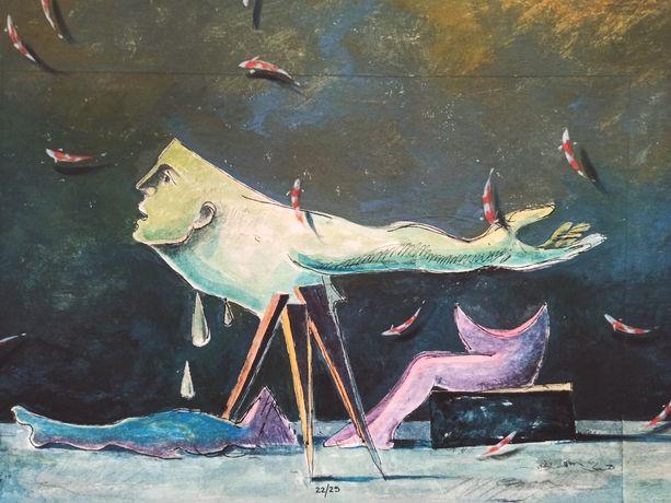 Serigrafia em tela Cruzeiro Seixas e Alfredo Luz