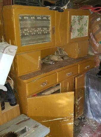Stara komoda kredens kuchenny lata 50-te PRL antyk do renowacji