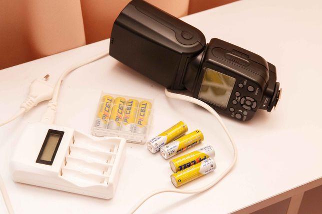 Вспышка Triopo TR982 IIс TTL + зарядка + 8 аккумуляторных батареек