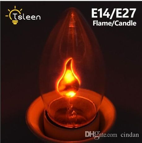 Неоновая лампа горящая свеча на ветру