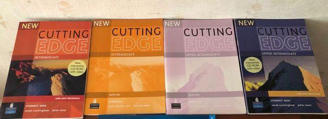 Учебники, тетради + CD: курс английского NEW CUTTING EDGE (б/у)