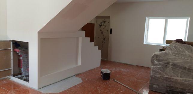 pladur tetos falsos divisorias pintura remodelaçao