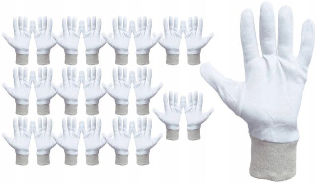 Rękawice/Rękawiczki bawełniane/bawełna Hurt cena za szt 1,50zł