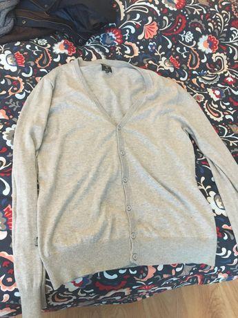 Szary sweter rozpinany XL