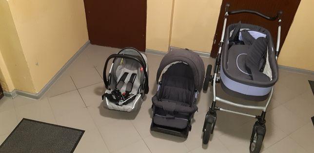 Wózek Fyn Alu + Nosidełko/Fotelik Recaro
