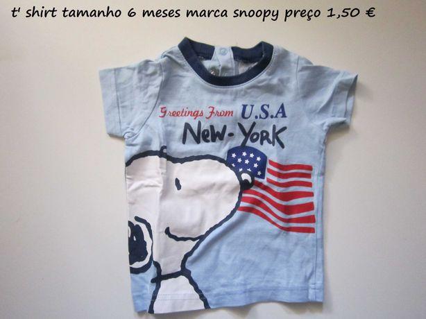 t' shirts e polos de primavera/verao para criança 6 meses a 7 anos