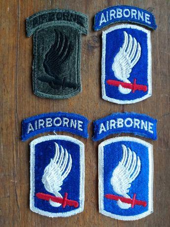 Wojna w Wietnamie - 4 naszywki 173 brygady spadochronowej - oryginalne