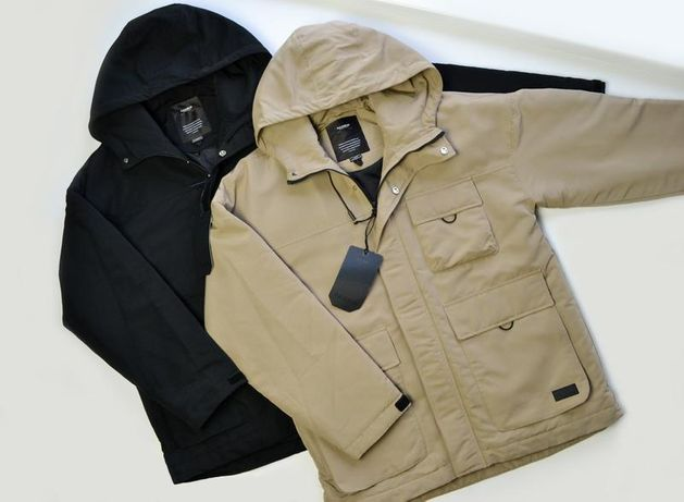 Мужская утепленная осенняя парка куртка pull&bear