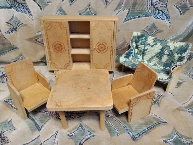 Мебель деревянная кукольная игрушка ссср