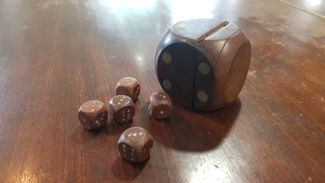 Przedwojenne kości kostki do gry brydż ruletka vintage casyno Casino