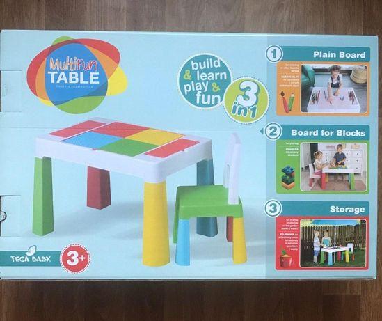 Игровой комплект Tega Baby MULTIFUN (столик + стул) Тега Беби Мультифа