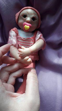 Куколка из полимерной глины, мини реборн.