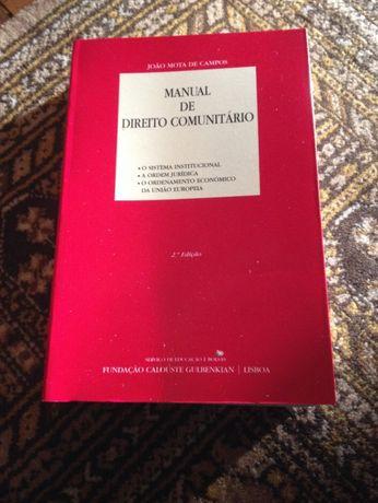 Manual de Direito Comunitário - 2ª Edição - livro direito