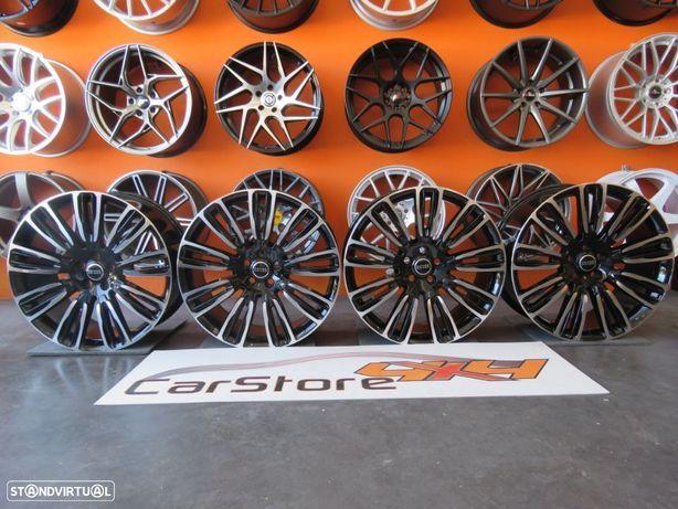 "Jantes Look Range Rover Velar 22"" x 9.5 et 45 5x120 Preto + Polida"