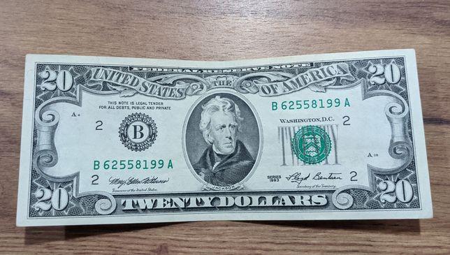 20 долларов 1990, 1993 год