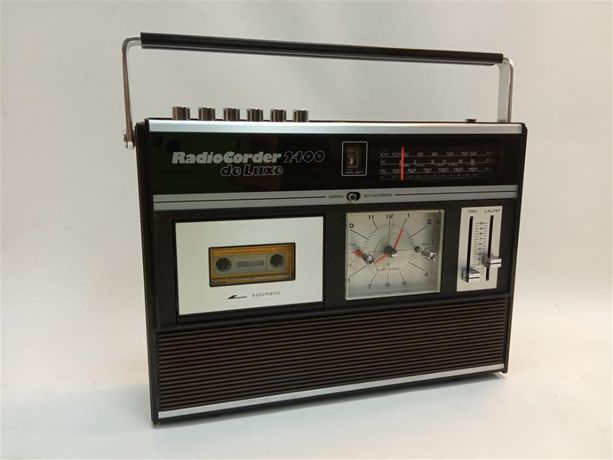 Radiomagnetofon Radio Corder 2400 de luxe - radio, zegar, lata 70