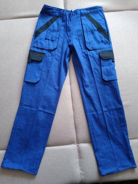 Spodnie robocze bawełna damskie MAX niebieskie 44 NOWE
