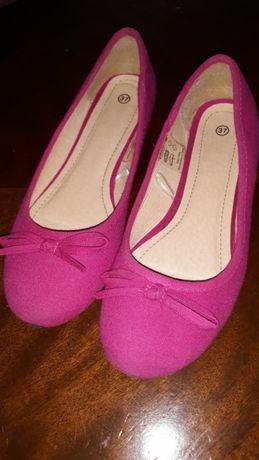 Prześliczne i urocze balerinki nowe w pięknym kolorze 37 za 15 zl