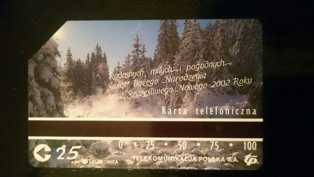 Karta telefoniczna z 2002 roku