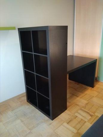 Regał Ikea kallax biurko czarne